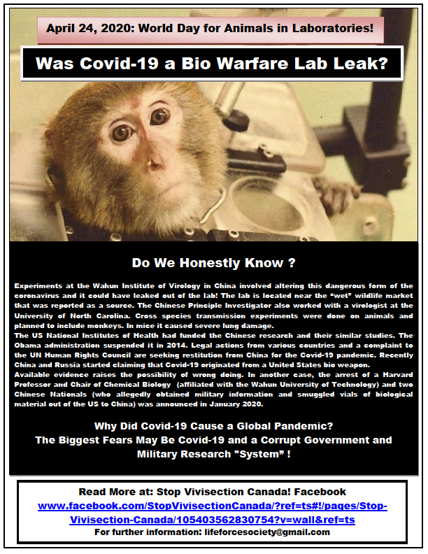 World Day For Animals In Laboratories April 24th, 2020 Part 2!